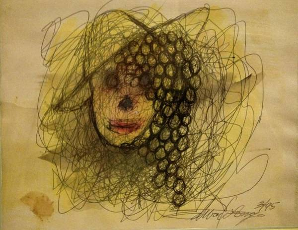 Drawing - Uva Queen Of The Grapes by Edward Longo