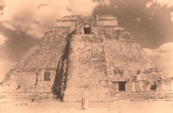 Chichen Digital Art - Uxmal Mayan Ruins 2 by Roy Pedersen