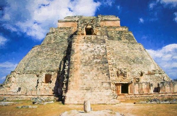 Chichen Digital Art - Uxmal Mayan Ruins by Roy Pedersen