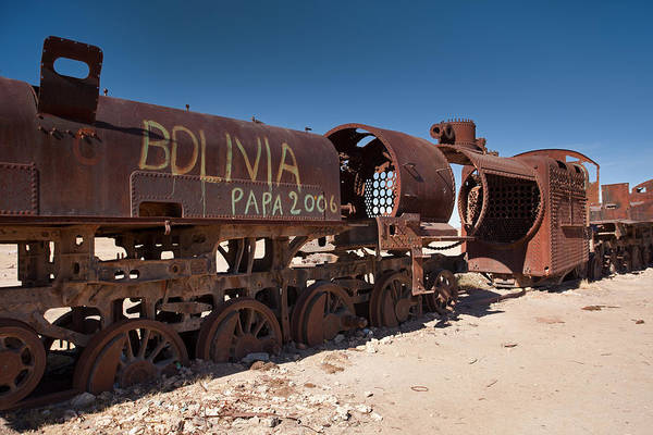 Photograph - Uyuni Train Cemetery by Aivar Mikko