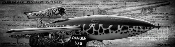 Bomb Photograph - V-1 Flying Bomb by Adrian Evans