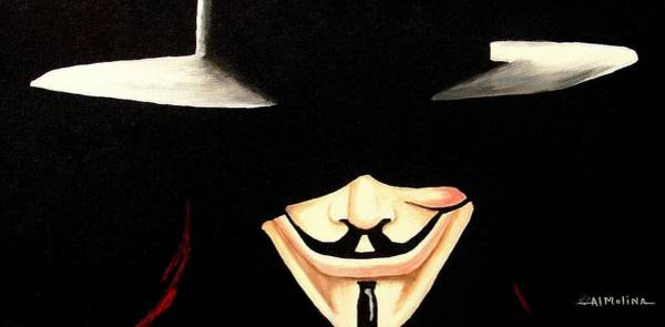 Wall Art - Painting - V For Vendetta by Al  Molina