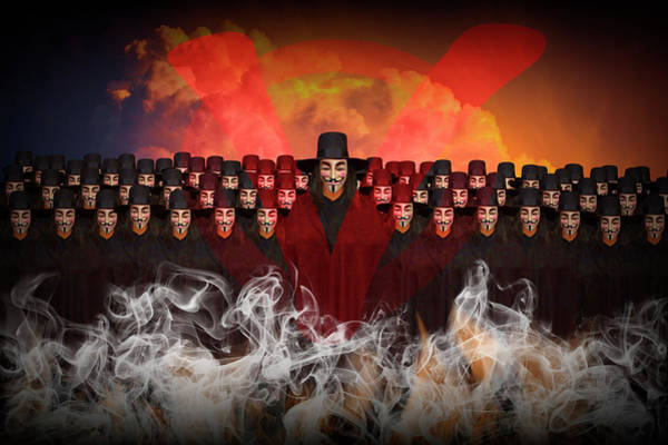 Photograph - V For Vendetta Photographic Image by Randall Nyhof