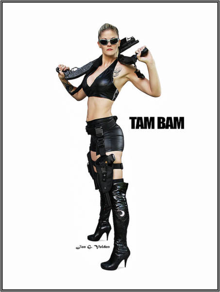 Photograph - V-girl Pinup Tam Bam by Jon Volden