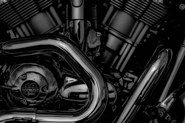 Photograph - V-rod 10 Years Black And White 5216 Bw_2 by Steven Ward