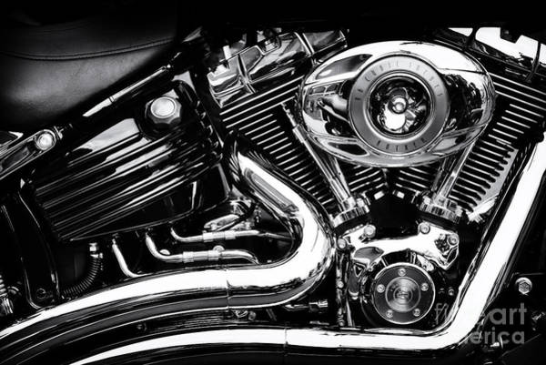 Harley Davidson Black And White Wall Art - Photograph - V Twin by Tim Gainey