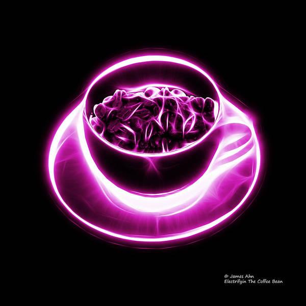 Digital Art - V2-bb-electrifyin The Coffee Bean-magenta by James Ahn