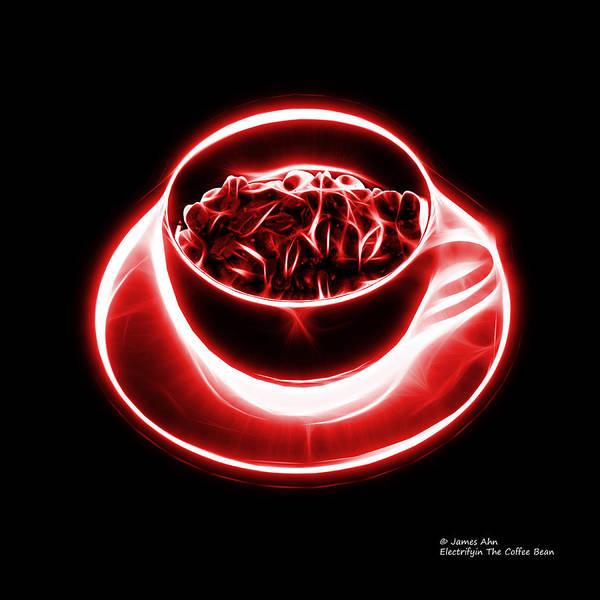 V2-bb-electrifyin The Coffee Bean-red Art Print