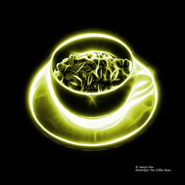 Digital Art - V2-bb-electrifyin The Coffee Bean-yellow by James Ahn