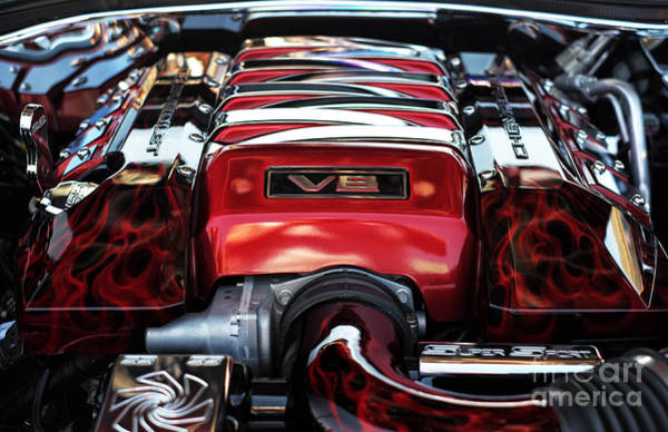 V8 Engine Wall Art - Photograph - V8 by John Rizzuto