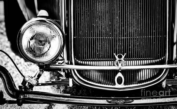 V8 Engine Wall Art - Photograph - V8 Monochrome by Tim Gainey