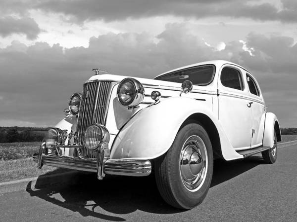 Photograph - V8 Pilot In Black And White by Gill Billington