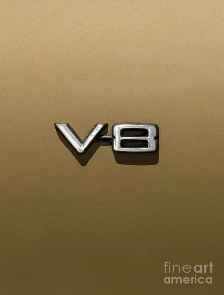 Photograph - V8 Sign by Les Palenik