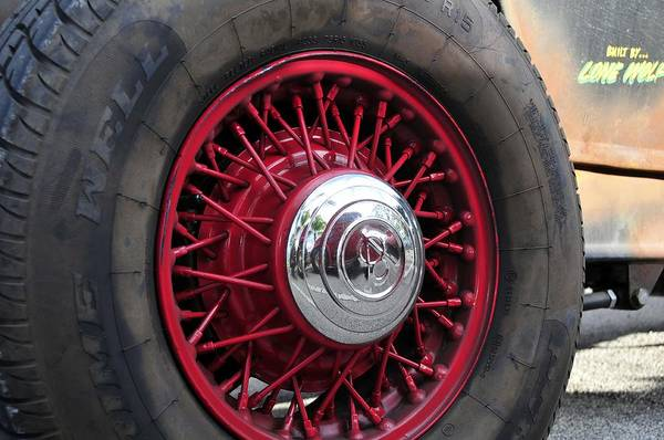 Antic Photograph - V8 Wheels by David Lee Thompson