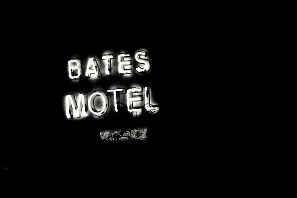Photograph - Vacancy At Bates Motel Bw by Denise Dube