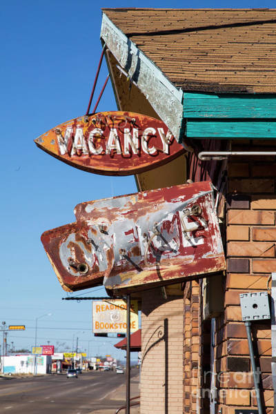 Wall Art - Photograph - Vacancy On Route 66 by Twenty Two North Photography