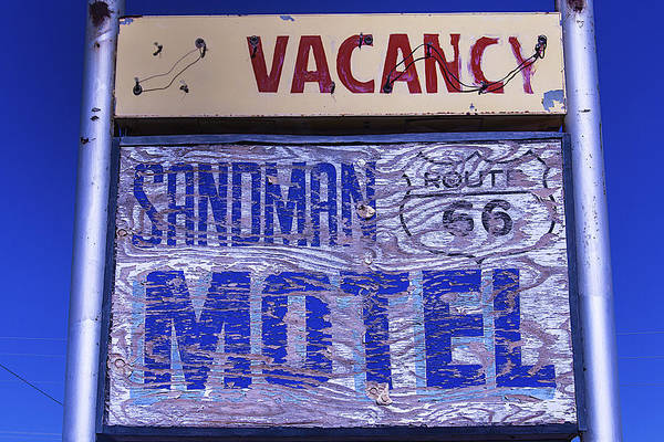 Timeworn Photograph - Vacancy Sign by Garry Gay