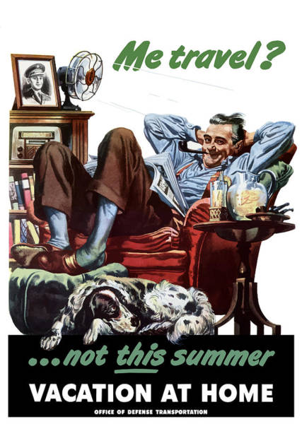 Wall Art - Painting - Vacation At Home -- Ww2 Poster by War Is Hell Store