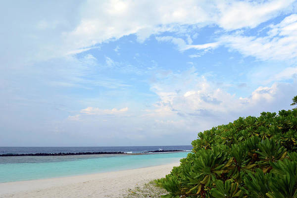 Photograph - Vacation Destination In The Maldives With Beautiful Beach by Oana Unciuleanu