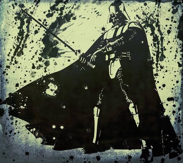 Wall Art - Digital Art - Vader Grunge by Dan Sproul