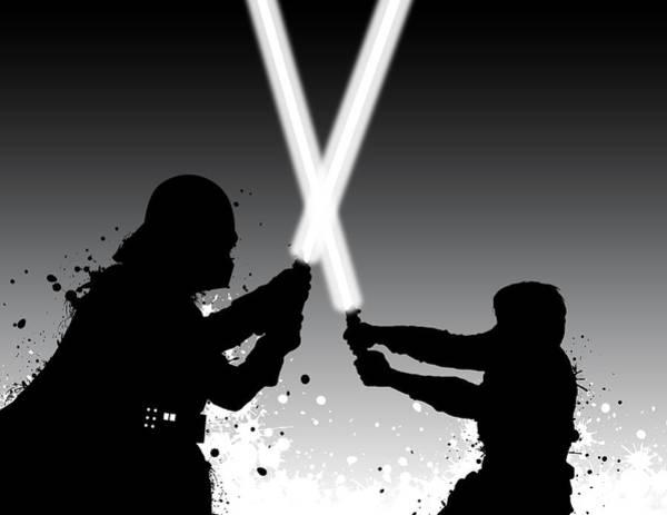 Wall Art - Digital Art - Vader Vs Luke by Nathan Shegrud