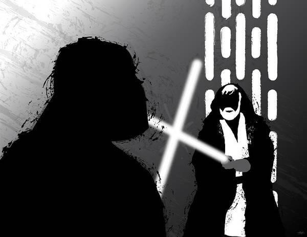 Wall Art - Digital Art - Vader Vs Obi-wan Kenobi by Nathan Shegrud