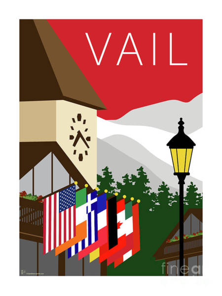 Digital Art - Vail Red by Sam Brennan