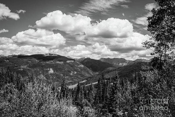 Photograph - Vail Valley Bw by Franz Zarda