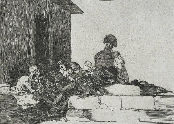 Relief - Vain Laments From The Series The Disasters Of War by Francisco Goya