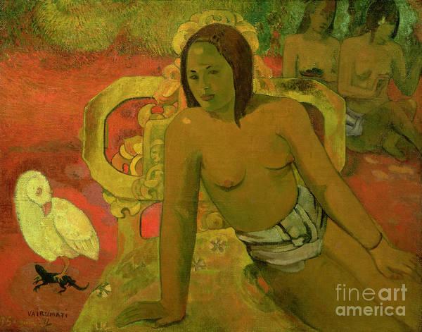 Wall Art - Painting - Vairumati by Paul Gauguin