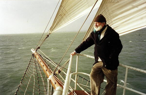 Photograph - Val Aboard The Asgard 11. by Val Byrne