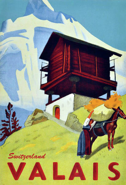 Wall Art - Painting - Valais, Switzerland, Traditional House by Long Shot