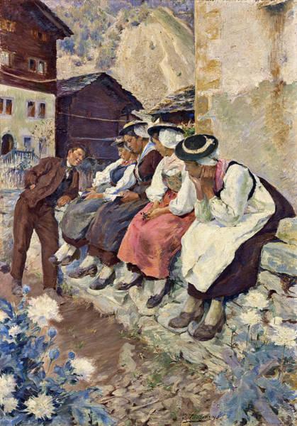 Painting - Valaisannes by Otto Vautier