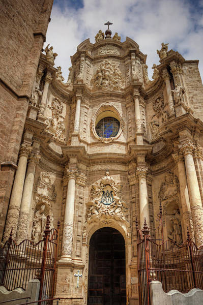 Wall Art - Photograph - Valencia Cathedral Facade  by Carol Japp