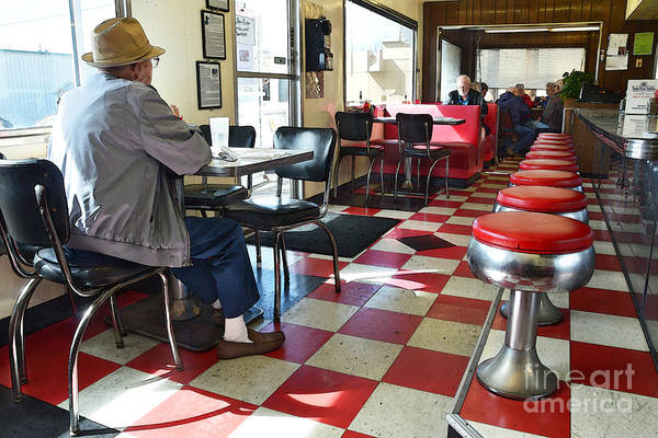 Wall Art - Photograph - Valentine Diner Interior by Catherine Sherman