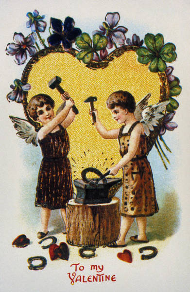 Photograph - Valentines Day Card, 1900 by Granger