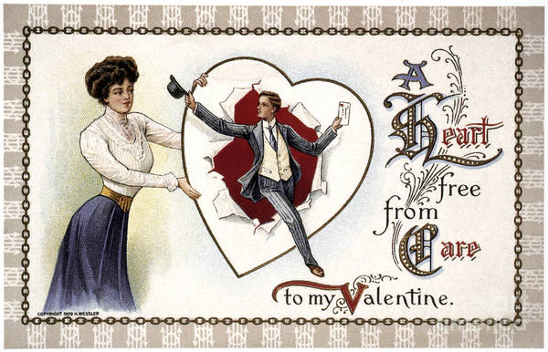 Photograph - Valentines Day Card, 1909 by Granger