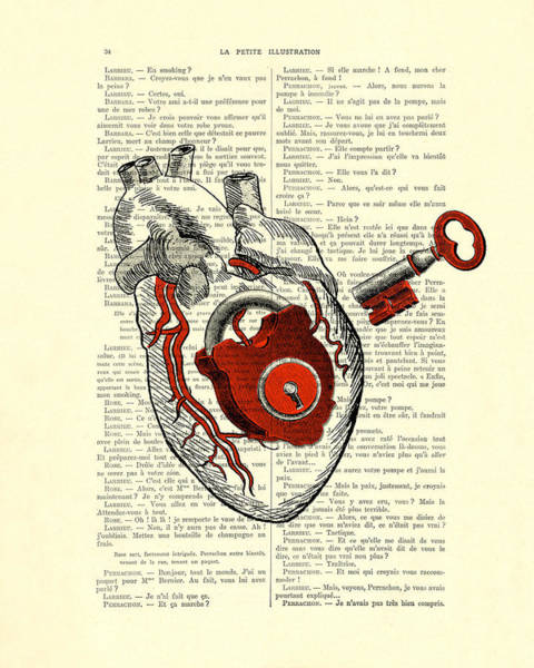 Girlfriend Digital Art - Valentine's Day Gift, Heart With Key by Madame Memento