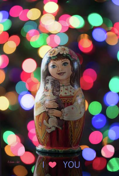 Digital Art - Valentines Day Matryoshka Nesting Doll  by OLena Art Brand