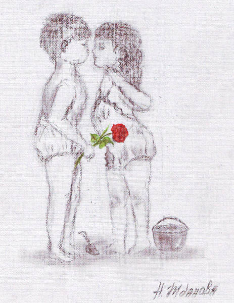 Girls Kissing Drawings Page 3 Of 3 Fine Art America