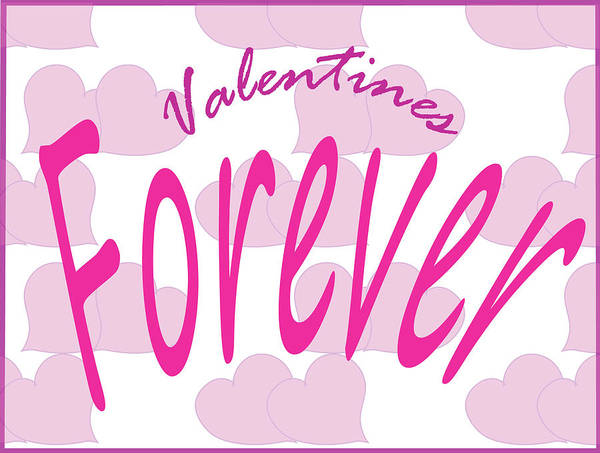 Digital Art - Valentines Forever by Barbara Jacobs