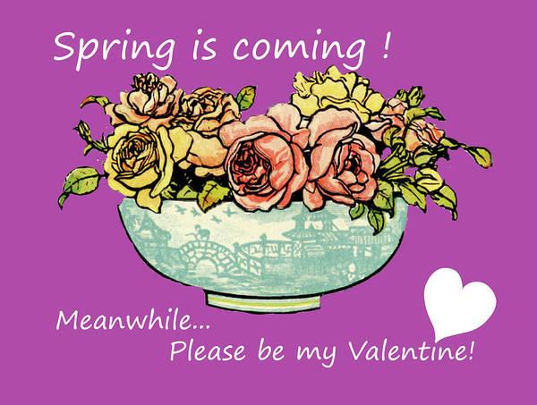 Digital Art - Valentines Spring Flowers by Barbara Jacobs