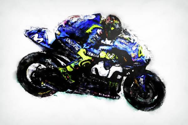 Painting - Valentino Rossi - 11 by Andrea Mazzocchetti