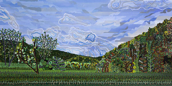 North Carolina Painting - Valle Crucis 1 View From Herb Thomas Road by Micah Mullen