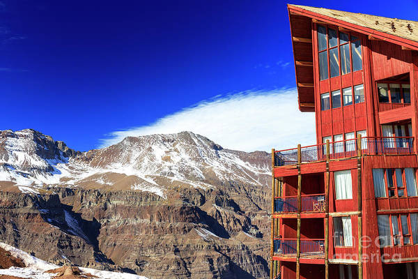 Photograph - Valle Nevado Ski Resort In The Andes by John Rizzuto