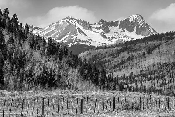 Wall Art - Photograph - Valley And Rocky Mountains In Black And White by James BO Insogna