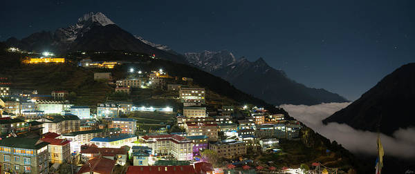 Photograph - Valley Clouds In Namche Bazaar by Owen Weber