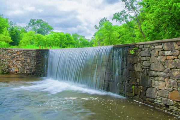 Photograph - Valley Creek Waterfall - Valley Forge Pa by Bill Cannon