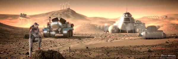 Space Exploration Digital Art - Valley End Cam 34 by Bryan Versteeg