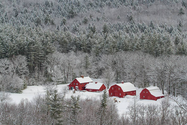 Valley Farm In Winter Art Print